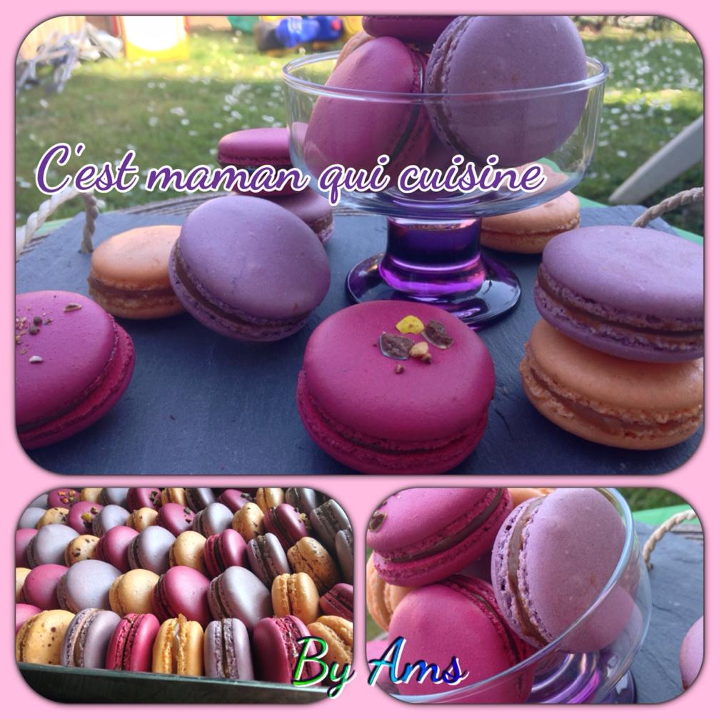 Macarons multicolores aux m&m's, milka et caramel au beurre sale