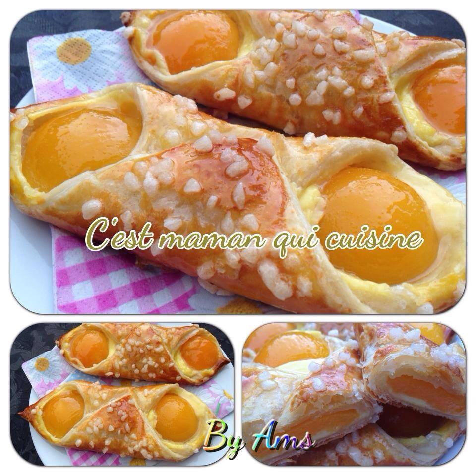 Oranais ou abricotine (croissant aux abricots)