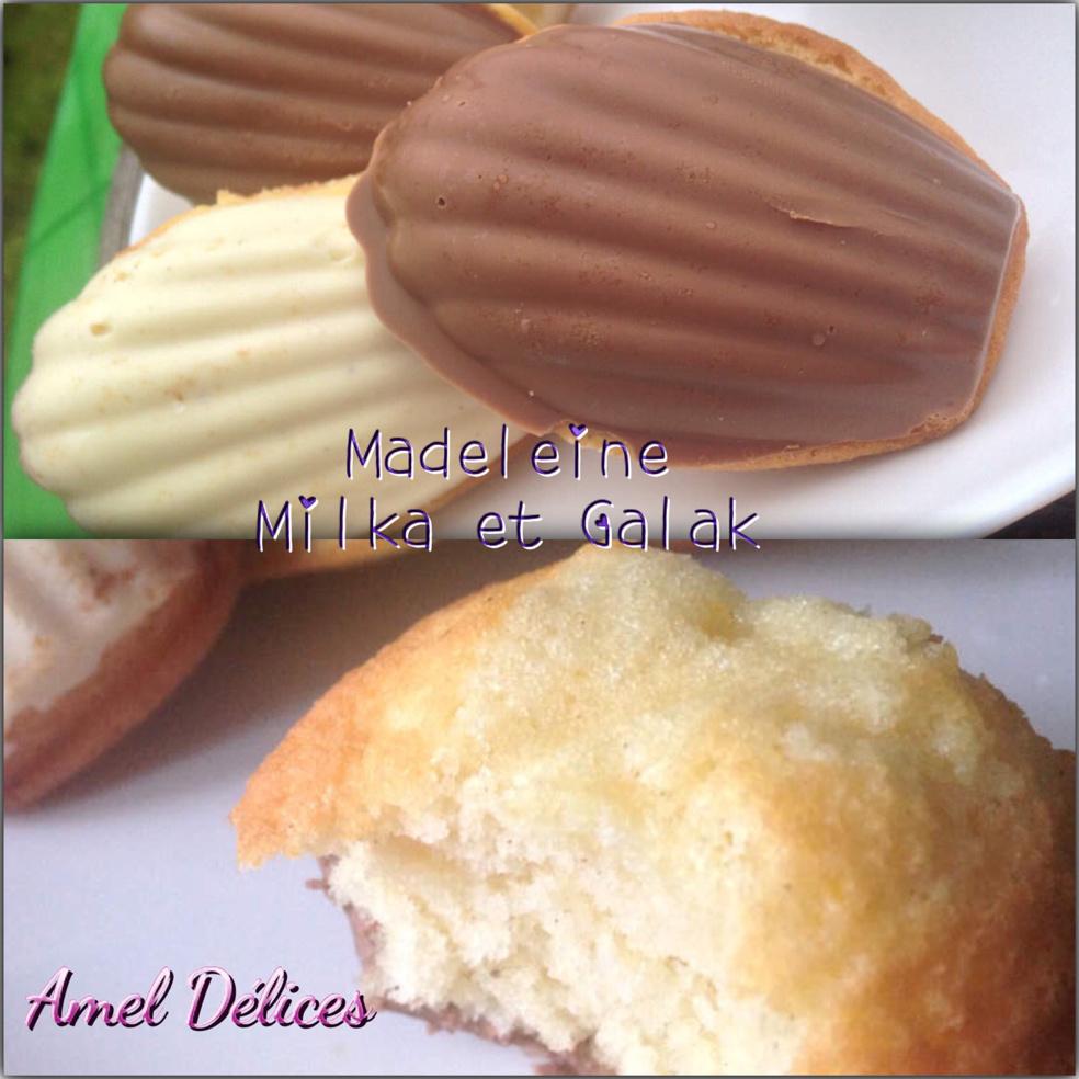 Madeleine vanille Milka et  Galak
