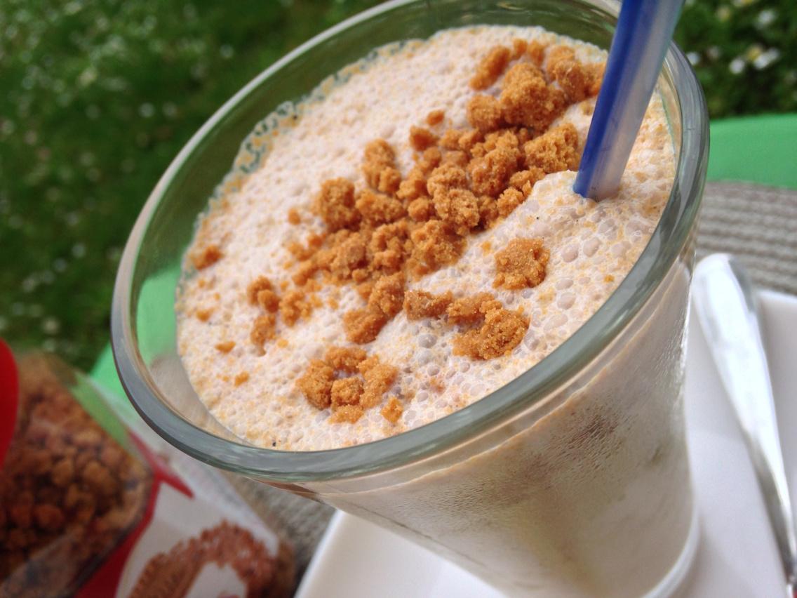 Milk shake vanille éclat de spéculos miam