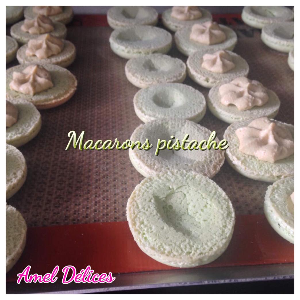 ganache pistache macarons (version 1 et 2)