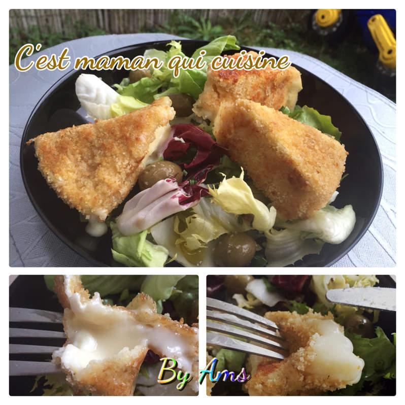 Camembert panè en salade