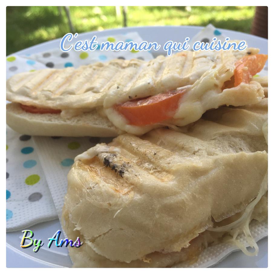 Panini express mozza chèvre tomate