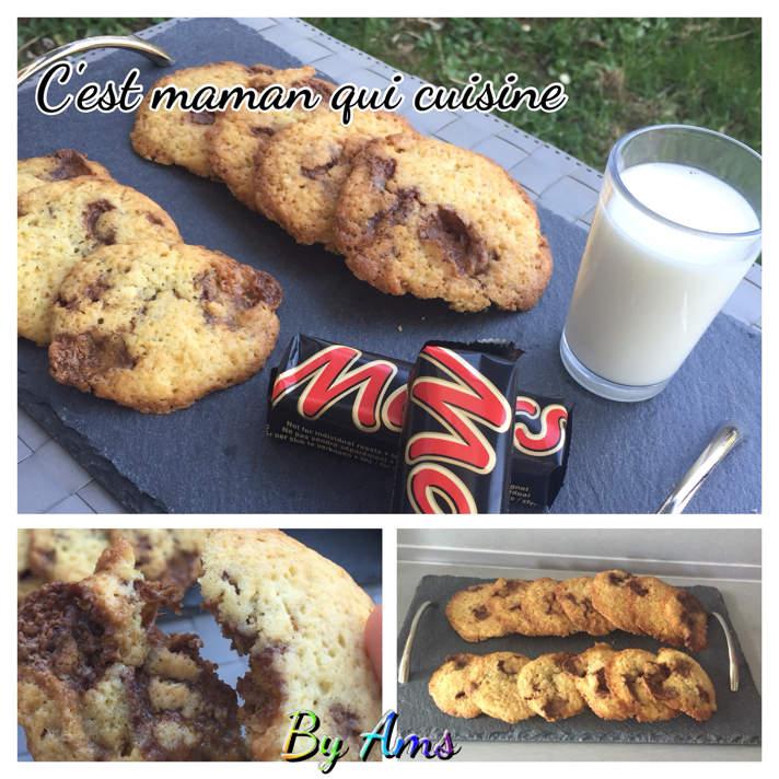 Cookies aux barres chocolatées Mars