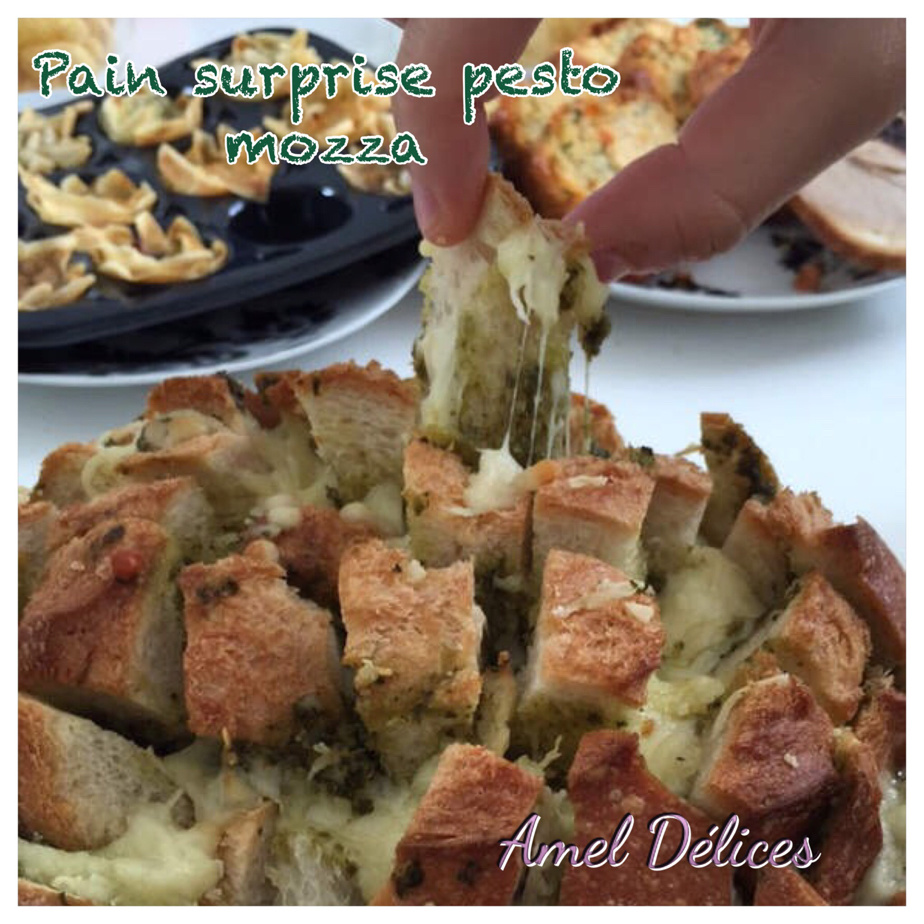 Pain surprise pesto mozza