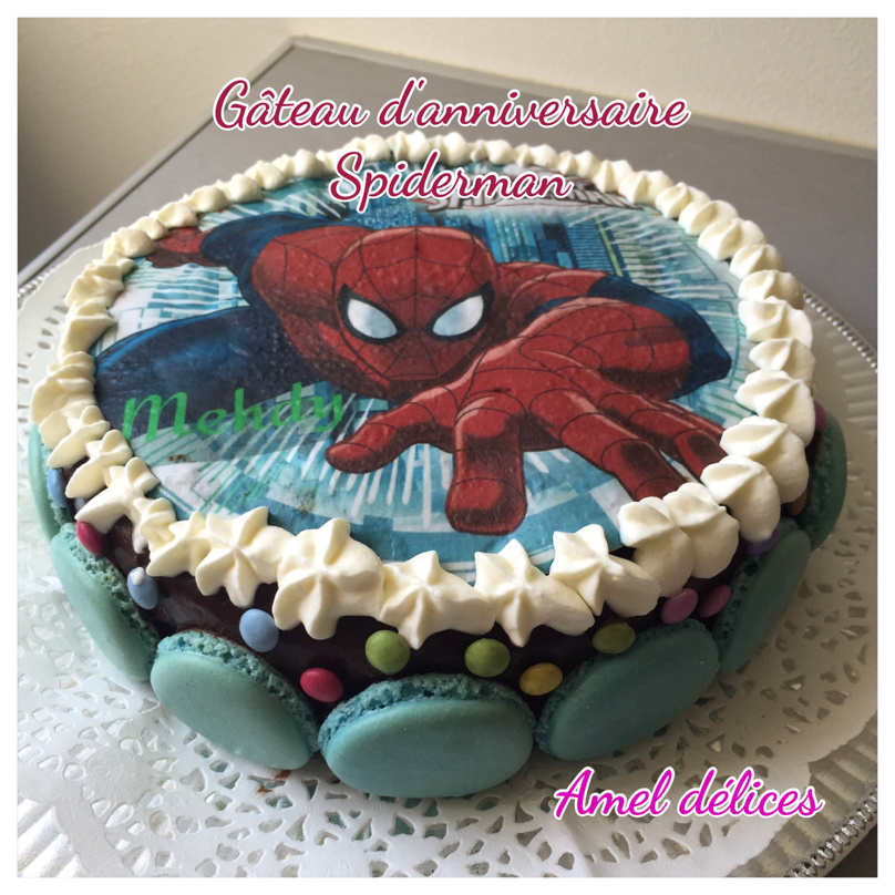 Gateau Kinder délice Spiderman