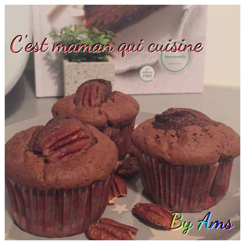 Muffins chocolat noix de pécan (thermomix)