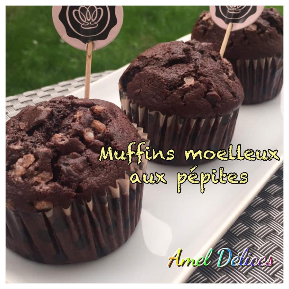 Muffins moelleux aux pépites de chocolats au lait