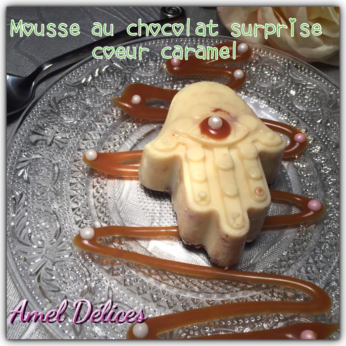 Dôme main de fatma mousse chocolat pralinoise