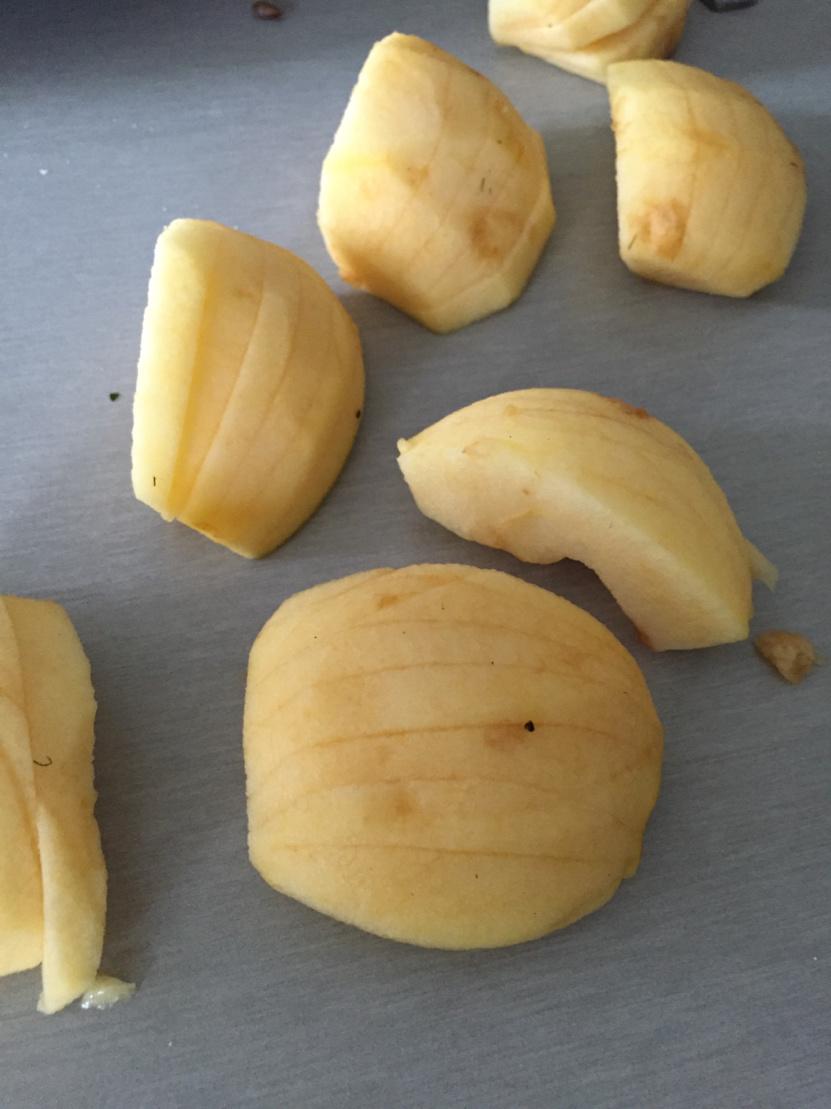Moelleux pommes amandes caramel beurre salé