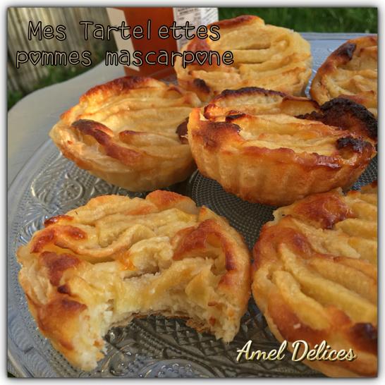 Mes tartelettes pommes mascarpone