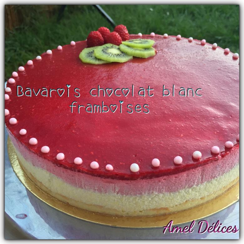 Bavarois chocolat blanc framboises