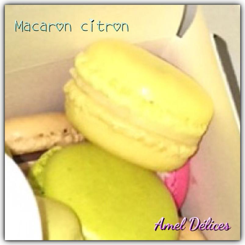 Mes macarons au citron