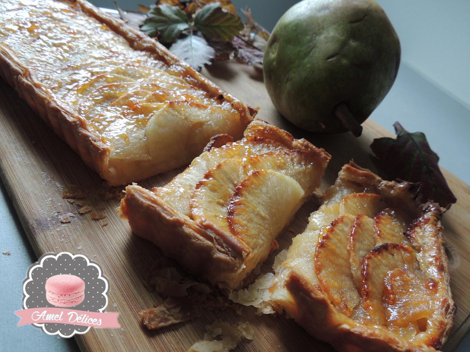Tarte feuilletée pomme poire