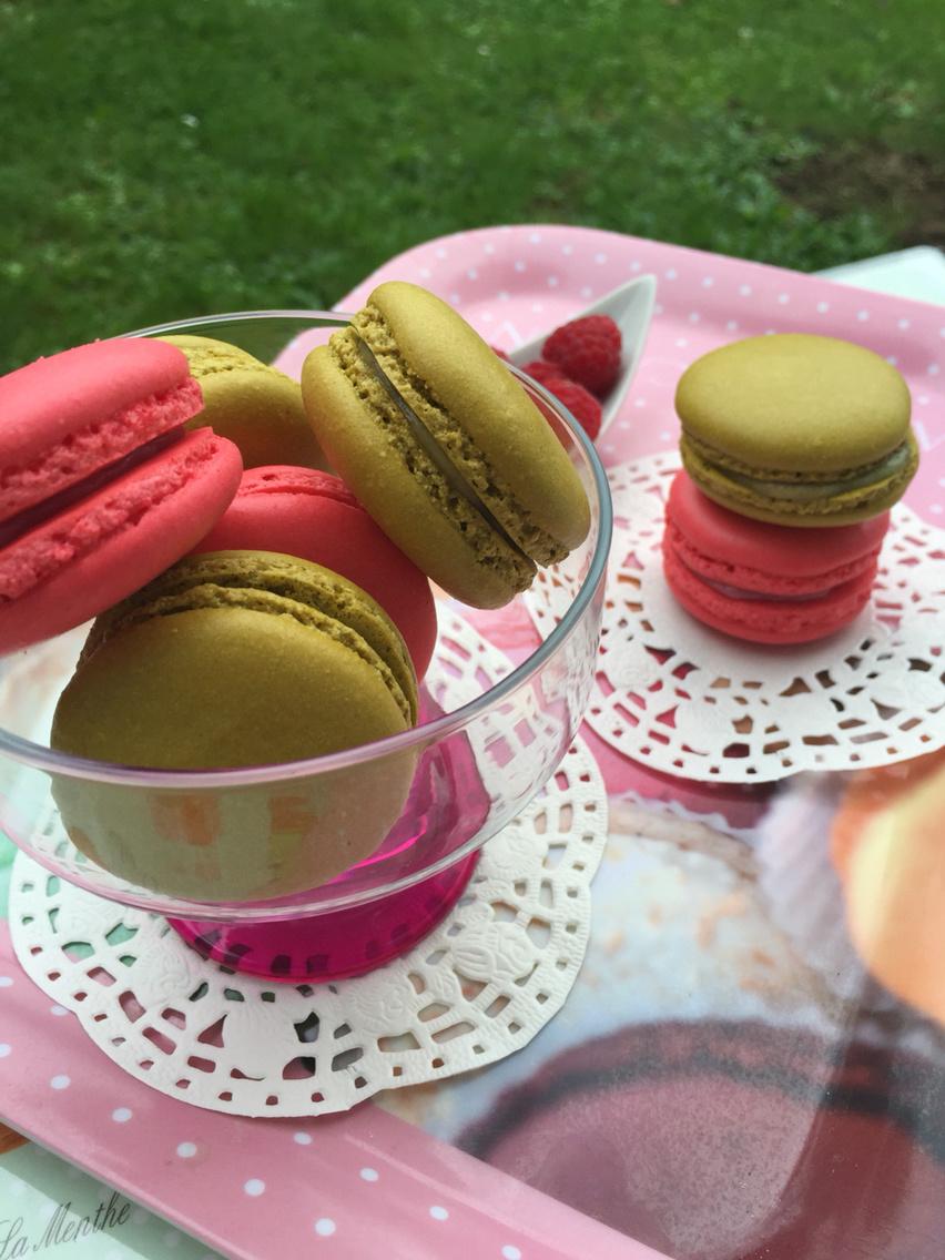 Mes macarons Ganache montée chocolat blanc framboise