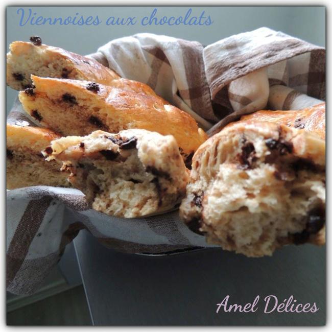 Baguettes viennoises aux pépites de chocolats ( thermomix ou pas)